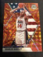 2019-20 Panini Mosaic Charles Barkley USA Orange Reactive Prizm #252