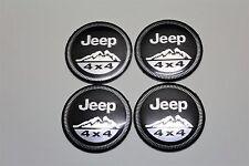 Jeep 4x4 Wheel Rims Centre Sliver Cap Decal / Sticker 56mm