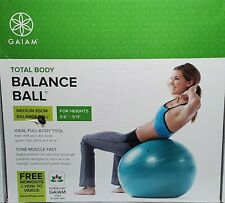 "Gaiam Total Body Balance Ball Medium 65Cm Kit For 5'6"""
