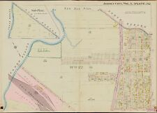1908 G.M. HOPKINS, JERSEY CITY, HUDSON COUNTY N.J. PEN HORN CREEK COPY ATLAS MAP