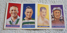 #D36. RARE UNSEPARATED 1934 STRIP OF FOUR CARDS - BRADMAN, KINGSFORD-SMITH etc