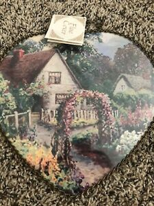 Gallery Graphics Flowers Country Cottage English Garden Heart Flue Cover