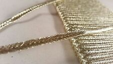 4mm- 2 meter High quality gold flat cord lace trim for crafting designing DIY