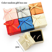 5*5cm Jewelry Ring Earring Necklace Carton Present Gift Box Case Random Color