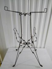 Nice antique metal magazine rack in iron circa 1900s continental probably French
