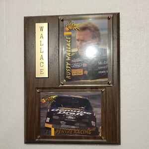 Vintage Rusty Wallace Factory Sealed Unopened Box Sport Plaque Sz 6 X 8