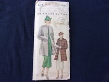 Vintage 1920's 30's Pictorial Review Sewing Pattern 8134 Women and Misses Coat