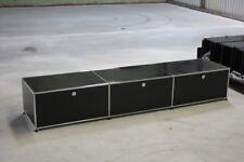 USM Haller Lowboard 3 Klappen TV-Board Regal Hifi Board schwarz Medienregal