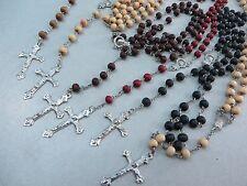 US SELLER-10pcs bulk lot Rosary Necklace Cross Jesus Crucifix Catholic Christian