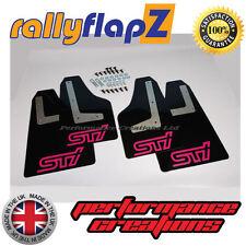 Mudflaps SUBARU IMPREZA Hatch 08-14 Qty4 rallyflapZ 4mm PVC Black STi style Pink