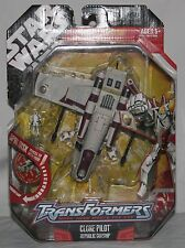 Star Wars Transformers clone pilot republic gunship MOSC