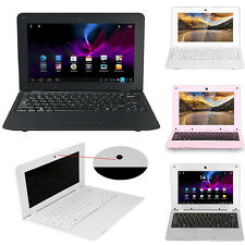"""Black 10"""" Android Netbook Dual Core Laptop Camera WiFi Notebook Keyboard HDMI"""