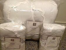Pottery Barn Teen Petite Ruffle FULL QUEEN quilt STANDARD shams WHITE