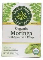 Traditional Medicinals - Organic Moringa Herbal Tea With Spearmint & Sage - 16