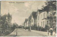 Ansichtskarte Herford - Blick in die Augustastrasse mit Villen/Passanten - 1918