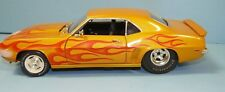 """1/18 custom made1969 Camaro yellow gold with flames""""Old School"""" , A/S,"""