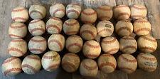 Lot of 32 Well Used Baseballs - Batting / Fielding /Practice Hard Leather Balls