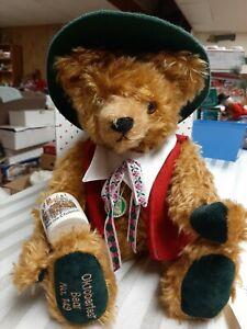 Hermann Mohair Oktoberfest Bear 75th Birthday Limited Edition No.149 NIB