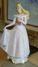 "Disney Sleeping Beauty, Figurine, 7 1/4"" Tall, Gold Trim Crown, Necklace, Bottom"