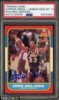 Kareem Abdul Jabbar Signed 1986-87 Fleer #1 PSA/DNA 10 GEM MINT AUTO GRADE