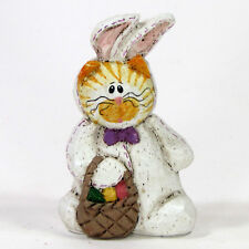 """Midwest of Cannon Falls Cat In Bunny Costume 3"""" Figurine Easter Eddie Walker"""
