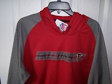 Atlanta Falcons Red and Gray  Lt Weight Sweatshirt Hoody  Mens Large New w/ Tags