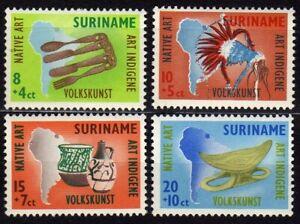 SURINAM #B69-B72 MNH NATIVE ART & MAP OF SOUTH AMERICA