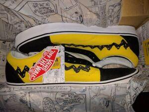 Vans Old Skool x Peanuts Charlie Brown Yellow/Black Good Grief All NEW Mens