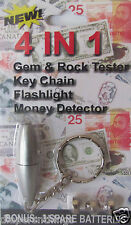 MONEY, GEM, MINERAL AND ROCK TESTER KEYCHAIN TOOL - Free USA & Canada Shipping