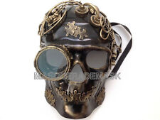 Steampunk Skeleton Goggle Masquerade Ball Mask Prom Halloween Custom Party