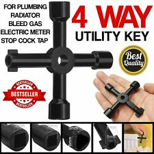 Utility Key 4 Way Multi Functional for Electric Cupboard Cabinet Meter Box Key