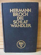 Hermann Broch-Die Schlafwandler-Pasenow oder die Romantik 1888-Erstausgabe-1931