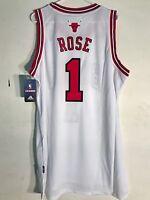 Adidas Swingman NBA Jersey Chicago Bulls Derrick Rose White sz L