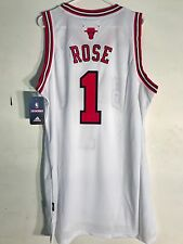Adidas Swingman NBA Jersey Chicago Bulls Derrick Rose White sz L