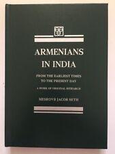 1897 REPRINT India Armenians History - Mesrovb J. Seth; ARMENIAN Colony; ENGLISH
