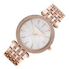 Michael Kors MK3220 Darci Glitz Madre Perla Dial Oro Rosa Pulsera Mujer Reloj