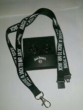 Branded Jack Daniel's Whisky Cufflinks and lanyard great EASTER BIRTHDAY GIFT