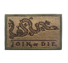 JOIN OR DIE ARMY MORALE BADGE Embroidered HOOK Loop PATCH  AA 1167