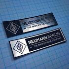 2 x NEUMANN BERLIN Case Badge Sticker - Aluminium F1