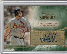 2014 Topps Simply Supreme - Matt Adams - Autograph - #d to 45 Cards & Nationals
