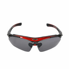 RockBros Cycling Polarized Outdoor Sports Goggles Sunglasses 5 Lens Black Red