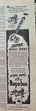 1944 Bug-a-boo Insecticide Super Insect Bug Spray Sprayer Ad