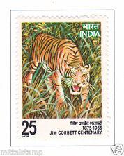 PHILA675 INDIA 1976 EDWARD JAMES JIM CORBETT TIGER MNH
