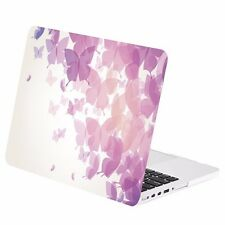 "Purple Butterflies Rubberized Case for Macbook Pro 13"" w/ Retina A1425/A1502"