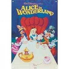 Walt Disney Alice in Wonderland Metal Sign. Home Decor Poster Vintage Retro Film