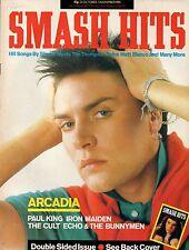 Simon Le Bon on Smash Hits Cover 23 October 1985  Iron Maiden Midge Ure The Cult