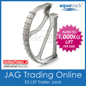EZ-LIFT TRAILER JACK Heavy Duty Aluminium Easy Lift - Caravan/Boat/RV Wheel Axle