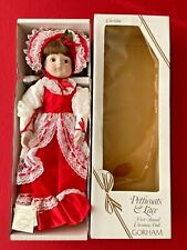 """Gorham Petticoats & Lace First Annual Christmas Doll """"Christine"""" VT756"""