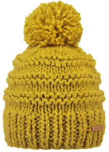 2020 NEW BARTS ADULT BEANIE JASMIN HAT MUSTARD YELLOW KNIT POM LADY WOMENS