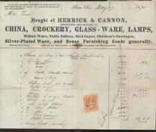 AKRON OHIO Graphic Letterhead Invoice HERRICK & CANNON IMPORTERS 1870